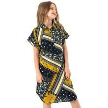 Летнее Детское платье; детское платье трапециевидной формы в