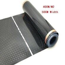 Все размеры 400 Вт/м2 инфракрасная углеродная AC220V пленка для теплого пола, низкий электрический теплый коврик