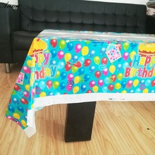 108x180cm happy birthday Tablecloth  Party Kids Birthday Decoration Theme Partytable cloth