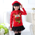 New 2015 Girls Children Kids Knitted Autumn Winter Pullover Sweaters Thick Children Cardigans Free Shipping