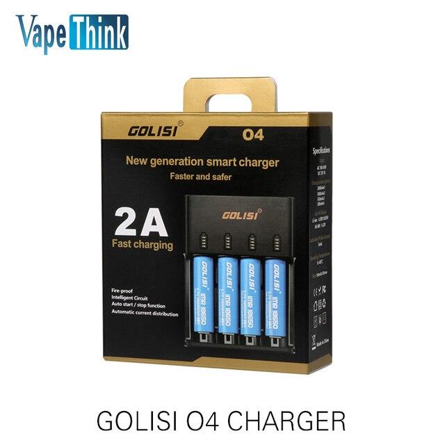 Original Golisi O4 Cargador inteligente Digicharger O4 para Ni-MH/Ni-cd/aa aaa/18650/26650 2A de carga Rápida VS I4 D4