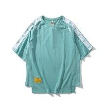Men Women Streetwear T-shirt Punk Cotton Kanye West Ribbon Casual joggers Harajuku Ulzzang oversized  Clothes TEE funny T Shirt