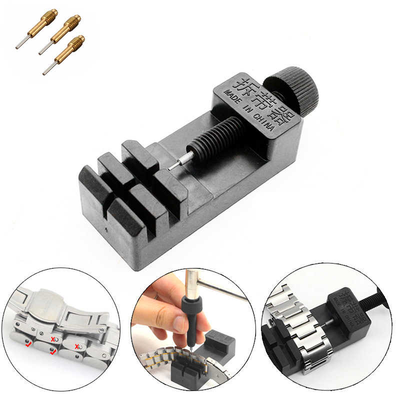 High Strength ABS!!! Watch Band Link Adjust Slit Strap Bracelet Chain Pin Remover Adjuster Repair Tool Kit For Men/Women Watch