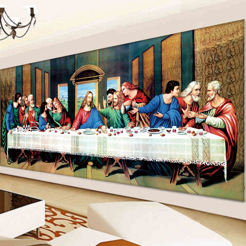 Hot 5D DIY Diamond Painting the last supper Embroidery Full Square ... b5f0ab5adf1f