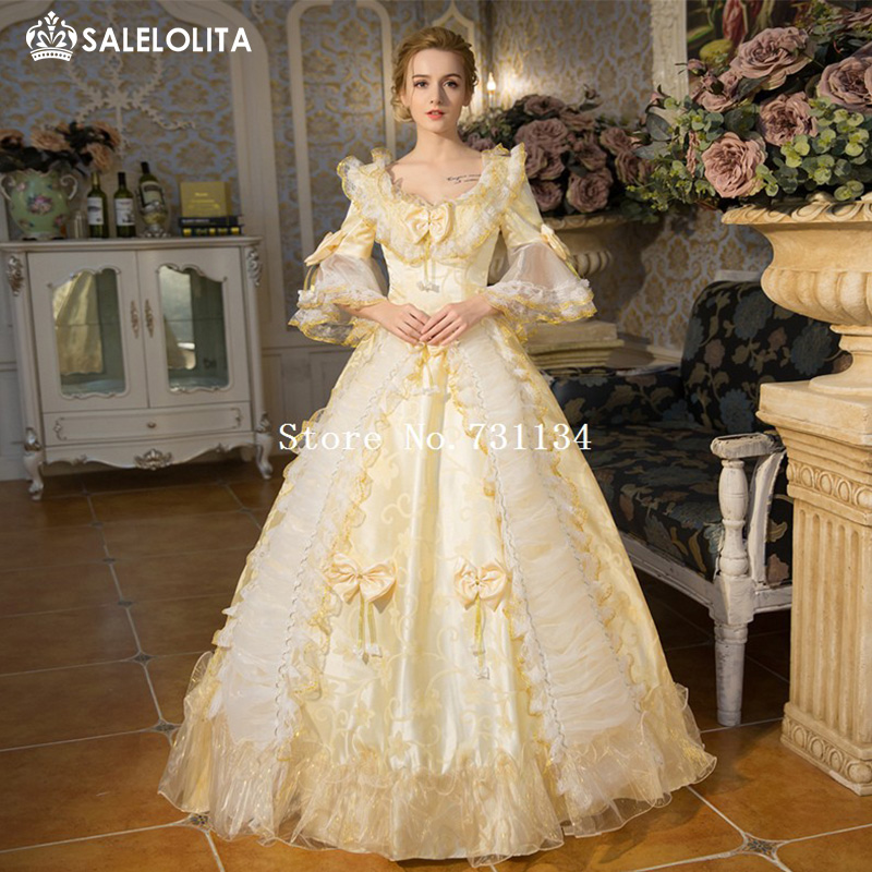 Buy best seller champagne rococo baroque for Period style wedding dresses