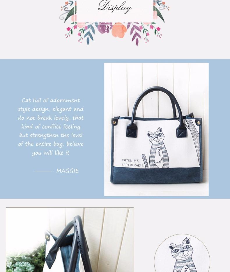 Flower Princess Canvas Cat Large Tote Bags Women Handbags Ladies Hand Bags Bolsa Feminina Bolsos Mujer Dames Tassen Borse Donna 6