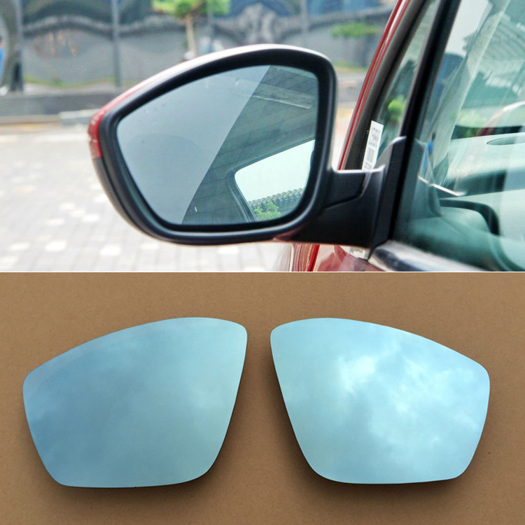 Ipoboo 2pcs New Power Heated w/Turn Signal Side View Mirror Blue Glasses For Peugeot 307