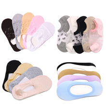Women Invisible Cotton Socks Shallow Mouth No Show Summer Styles Hollow Out Boat Slippers Female Short Lace Sock