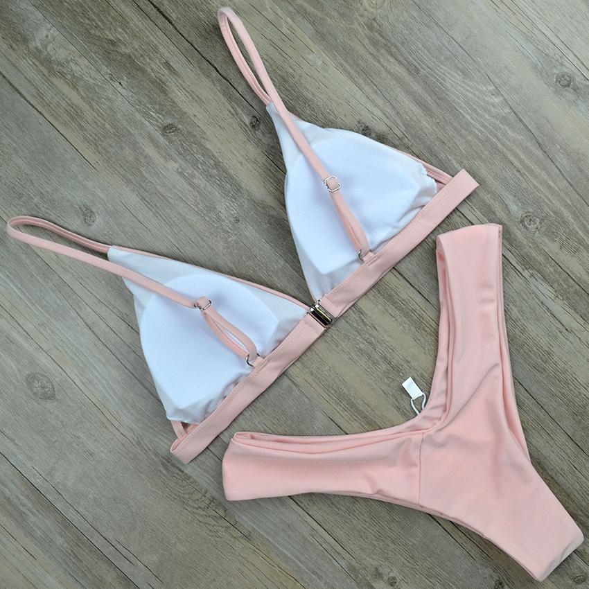 Hot Sexy Bikini 18 bandeau Swimsuit Thong Swimwear Women Bikinis Push Up Red Bikini Set brazilian Biquini Female Bathing Suit 13
