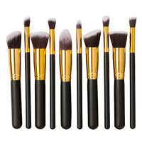 10 Pcs Professional Makeup Brush Sets Wool Fiber Eyeshadow Eyeliner Blending Brush Powder Foundation Cosmetic Tool