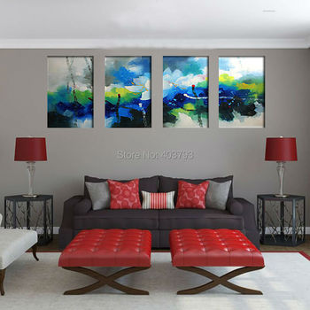 Handpainted New Product Flower Landscape Wall Art Oil Painting Home Deco Abstract Cheap Wall Picture Home Decor on Canvas