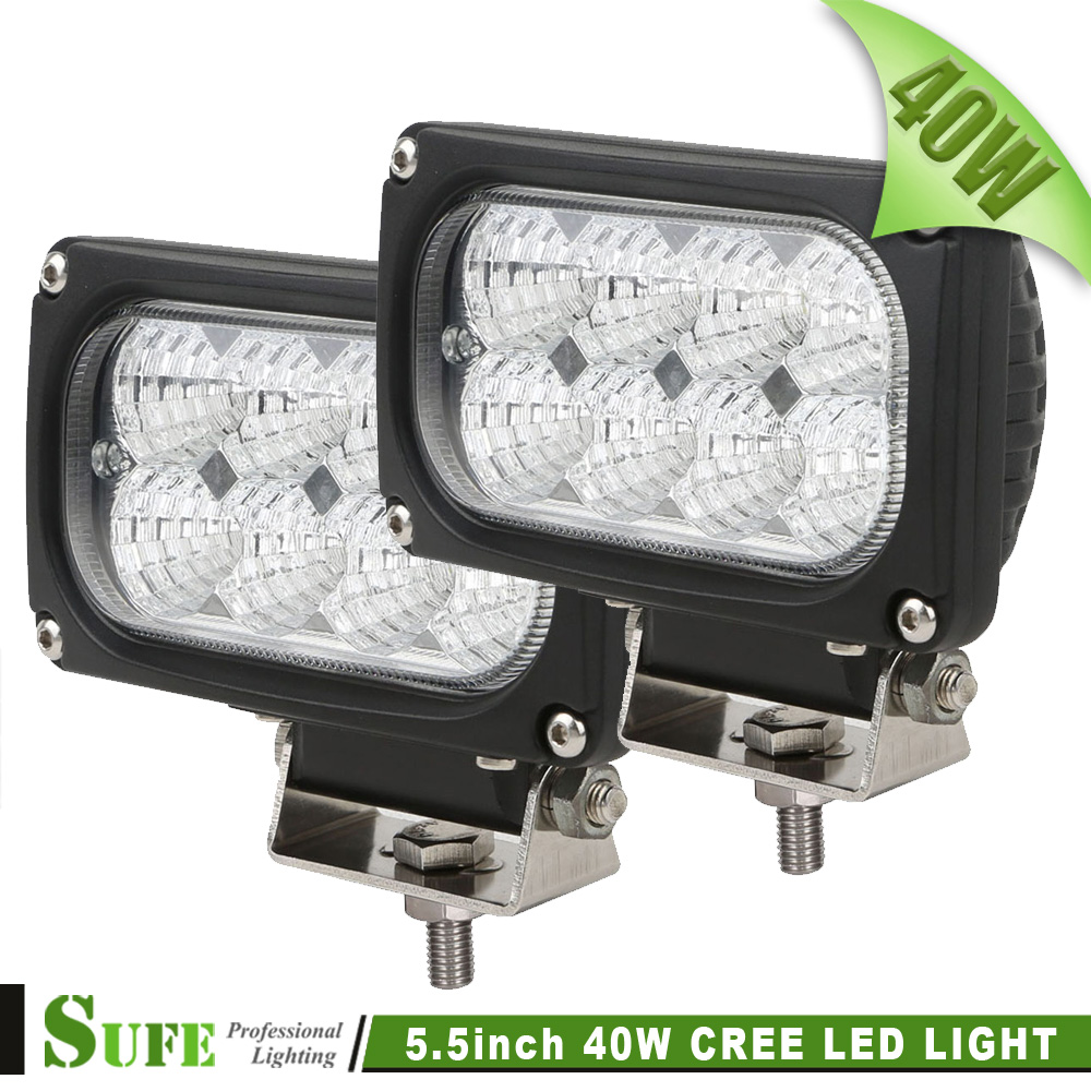 ФОТО 2016 NEW Design 2PCS 5.5 INCH 5W / CREE 40W LED Driving Light For 4WD Boat OFFROAD 4X4 TRUCK ATV REVERSE Back Up Flood WORK Lamp