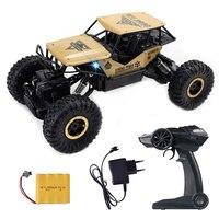Radio Controlled Machine 4WD RC Car 1:18 Remote Control SUV Machine Remote Control Dirt Metal Shell Vehicle Toys For Boys