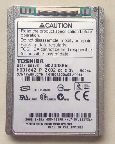 new MK3008GAL 1 8 inch micro hard drive interface ce ZIF 30G IPOD CLASSIC VIDEO ZUNE