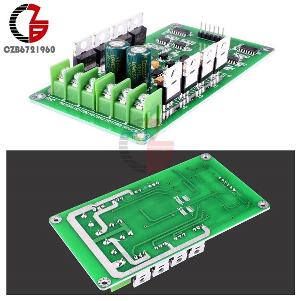 DC 5V 12V 24V 15A Dual H-Bridge DC Motor Driver Module Motor Drive  Controller Board for Arduino Robot Car Compatible 3V-36V