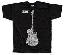 Muse V2 , Matthew Bellamy , Guitar Logo All Titles T Shirt ( Black ) S - 5xl New 2018 Fashion Mens T-shirts