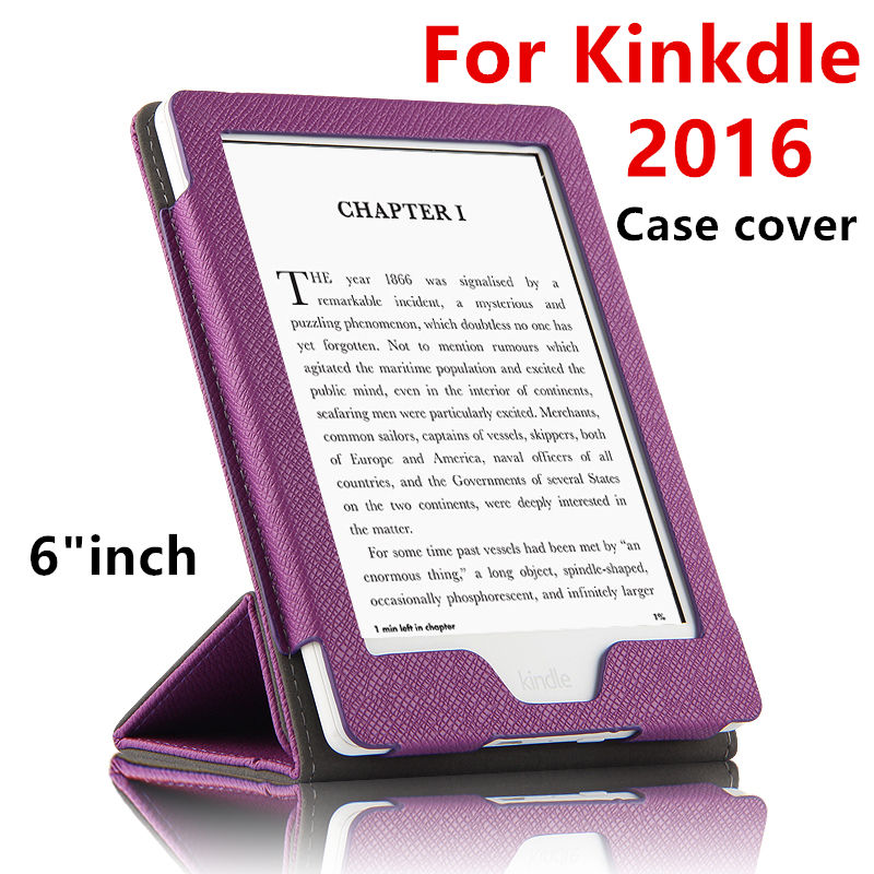Case For Kindle Protective New 2016 eBook Reader Smart Cover Case PU leather For Amazon Kindle Protector Sleeve cases 6'' Covers sleeve pouch case for amazon kindle paperwhite new kindle kindle voyage 6 inch easy carry e book e reader sleeve cover case bag