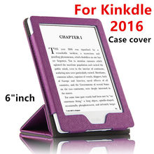 "Case For Kindle Protective New 2016 eBook Reader Smart Cover Case PU leather For Amazon Kindle Protector Sleeve cases 6"" Covers"