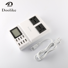 New 8 USB PORTS Charger with LCD Screen Display 1.5M White Portable Cellphone Mulit USB Charger 1.5M Universal Fast Chargeur