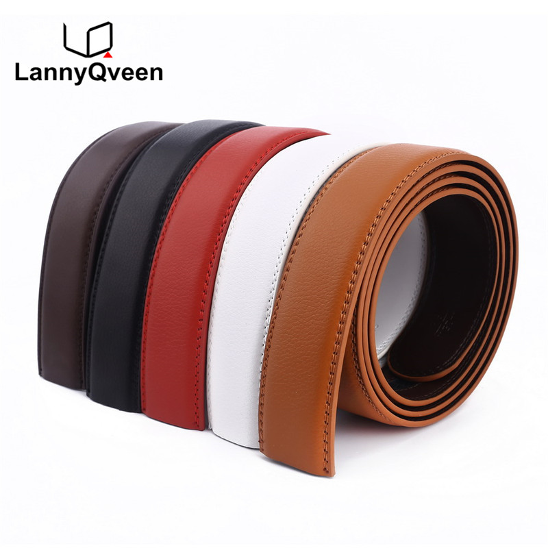 LannyQveen No Buckle belt 3.5cm white re