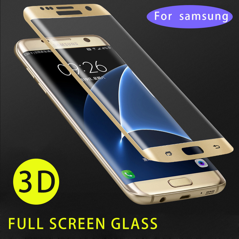 3D 9H Tempered Glass Full Cover For Samsung Galaxy S7 Edge S10 Lite S9 S8 Plus Note 8 9 10 Protective Light Screen Curved Glass image