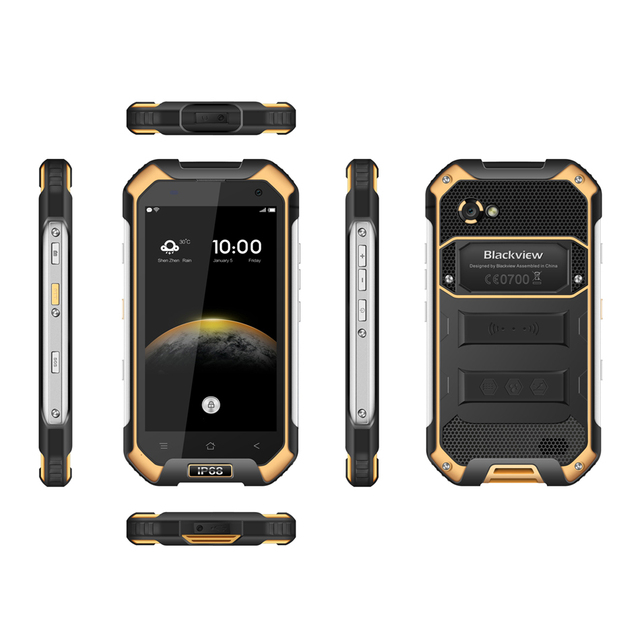 Official IP68 WaterProof Blackview BV6000 Mobile Phone 4G LTE Android 6.0 MTK6755 Octa Core 3GB RAM 32GB ROM 13MP GPS Glonass