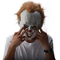 Фильм Стивена Кинга это Pennywise Clown Джокер маска Тим Карри ужасная маска Косплэй Halloween Party Опора Маска Клоуна латекс