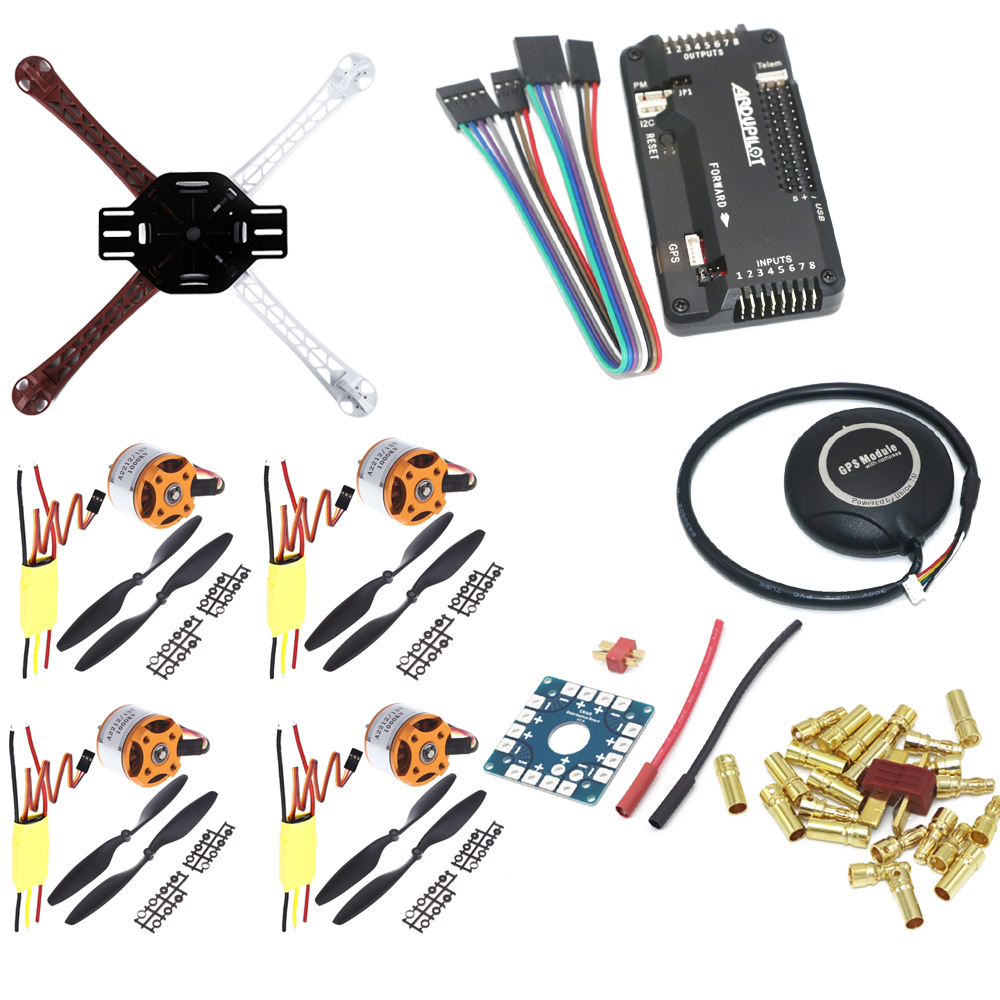 F450 PCB Frame Kit With XXD A2212 1000KV Motor & 30A ESC & 1045 Props & APM 2.8 Flight Controller 7MGPS Combo For Rc Quadcopter-in Parts & Accessories from Toys & Hobbies    1