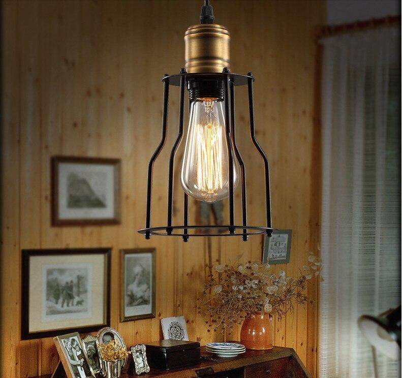 Scandinavian Designer Lamps RH Style LOFT Industrial Warehouse Dining Room  Den Bedside Bar Titanium Metal Pendant