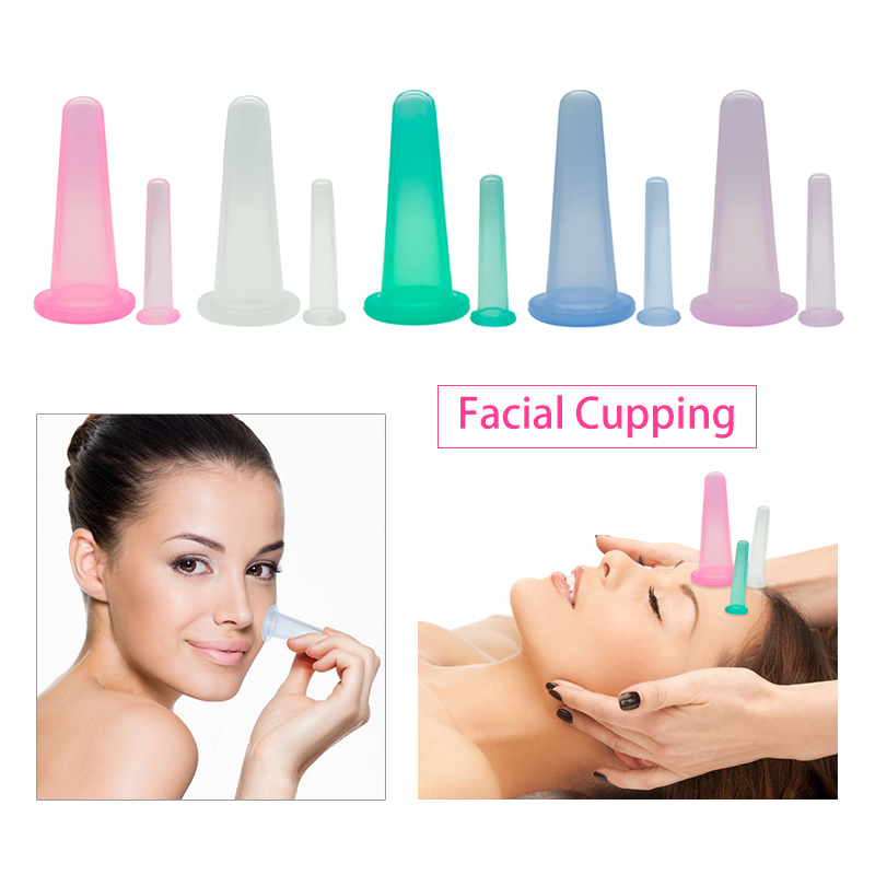 2pcs-1M-1S Vacuum Cupping Health Care Massage Cupping Relaxation family body Silicone Massage cans & Relaxation Cupping
