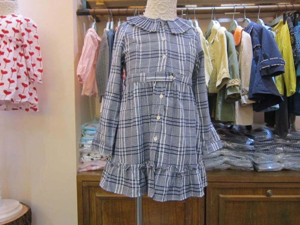 b889473b0 € 31.82 |Plaid Casual estilo de Inglaterra vestido de las niñas 11 12 9 10  8 7 6 5 4 3 años de edad la Primavera Muchachas del otoño Ropa para ...