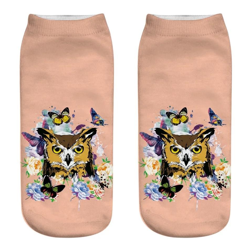 3D Printed Socks Owl Pattern Animal Printed Woman and man Socks Various Styles Optional in Socks from Underwear Sleepwears