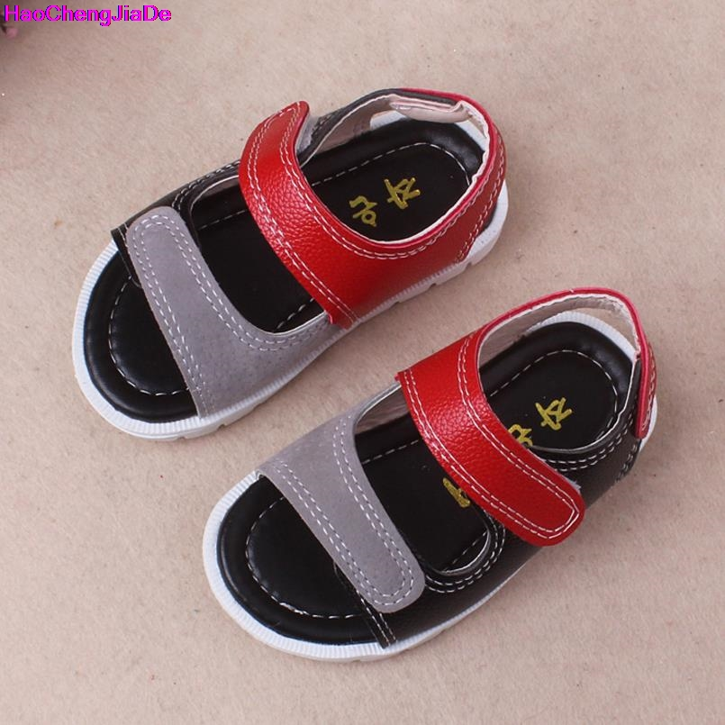 HaoChengJiaDe Summer Beach Toddler Boys Sandals Kids Leather Shoes Fashion Sport Sandal  ...