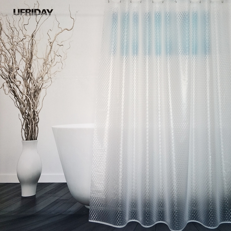 UFRIDAY Unique Shower Curtain 3D Circle / 3D Cube Waterproof Mildew ...