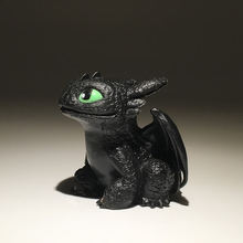 7cm Dragon Master Toothless Dragon Cartoon Doll Ornaments Night Fury Plush Toy Toothless Stuffed Doll Toys Gift for Children printio toothless dragon wall stickers