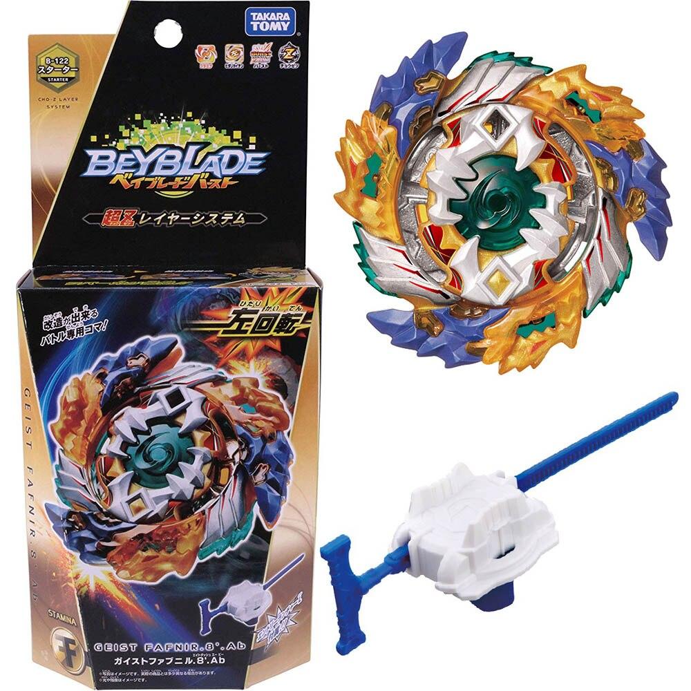Kai Watch Land B-122 de Geist Fafnir Bayblade de fusión con Lanceur Dios Spinning Top Bey Blade hojas de juguete