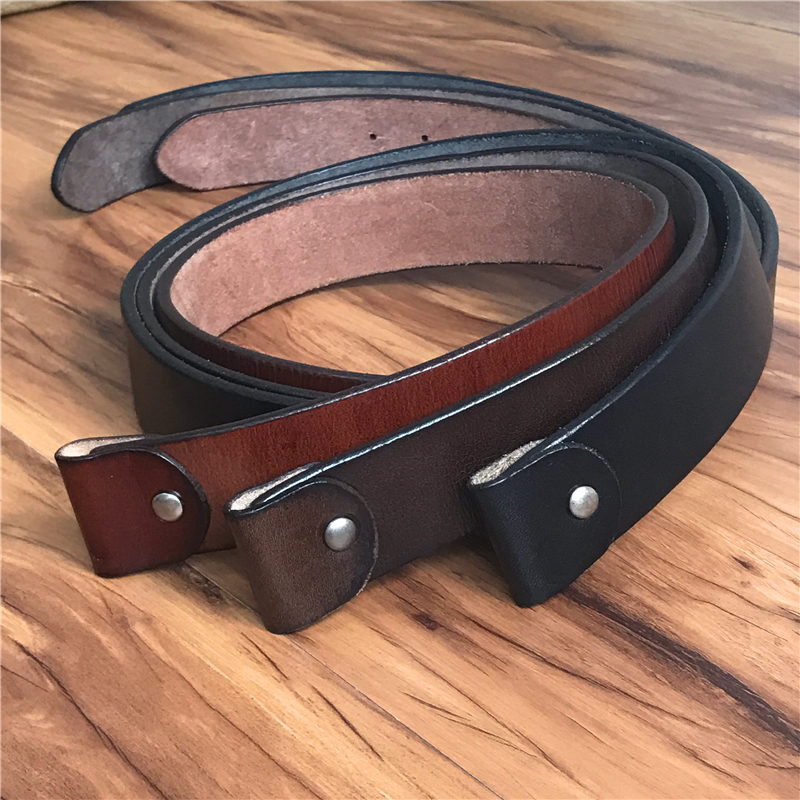 Super Thick TOP Quality Genuine Leather Luxury Belts Without Belt Buckle Men Belt Male Jeans Strap Ceinture Homme 105-125CM SP01