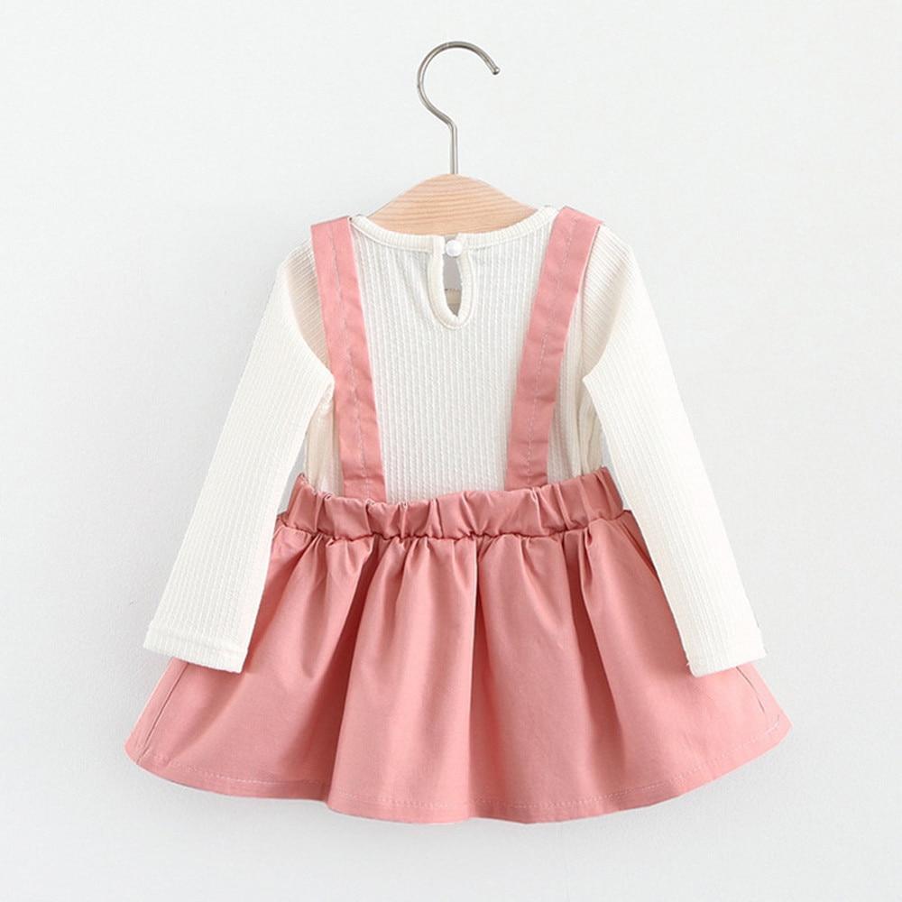Eyelash Curvy Rabbit Ear Princess Sling Dress Outfits for Infant Baby Girl
