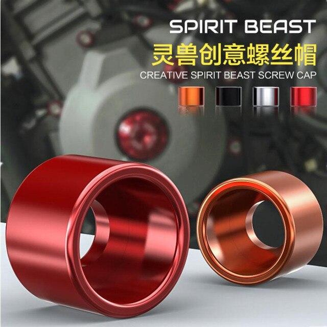 ESPRIT BÊTE 12 pcs/lot Moto Écrous et Boulons Moto Creative bouchon à vis 6mm style cool T6061 aluminium-magnésium alliage