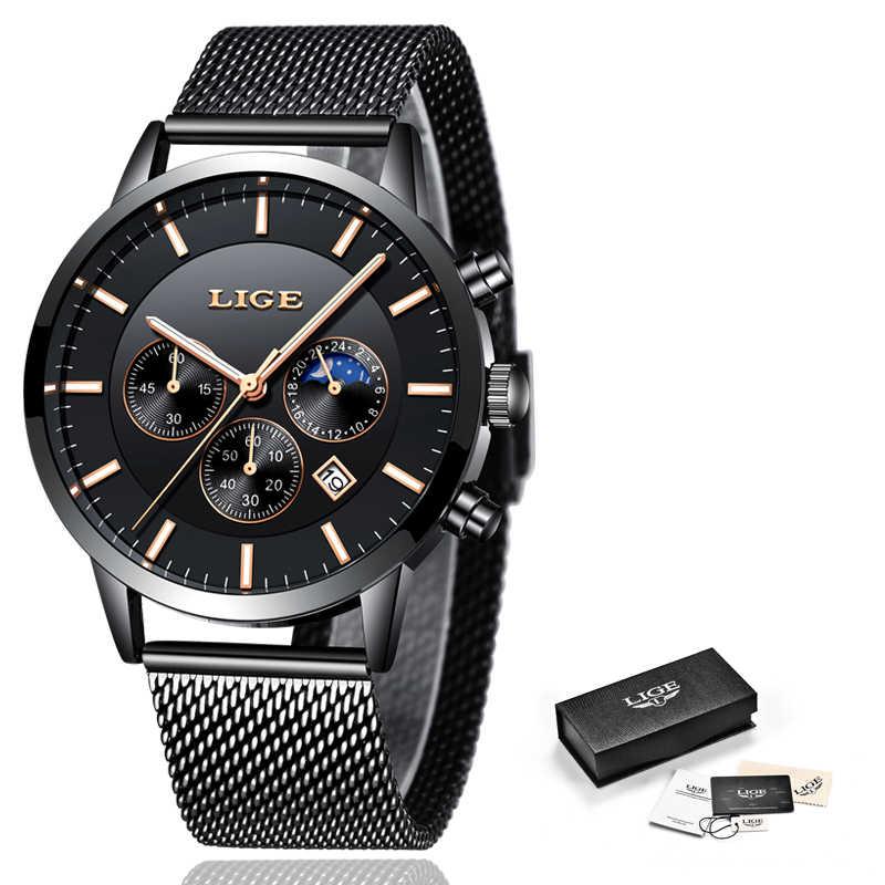 2019 LIGE hommes montres haut marque de luxe hommes militaire sport montre hommes décontracté étanche Quartz montre-bracelet Relogio Masculino