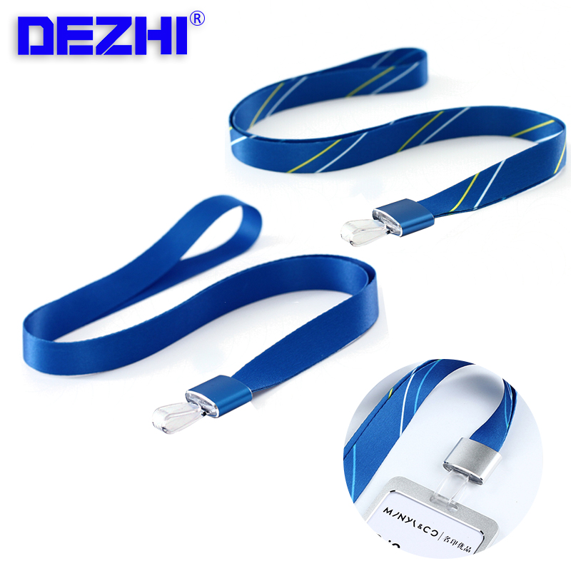 ID Card Badge Holder Necklace Magnesium Aluminum Alloy Metal Buckle + Polyester Lanyard,Logo Customize