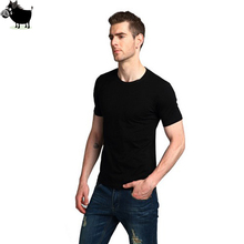 Man Si Tun Men's short-sleeved T-shirt Summer New Solid Color Slim Casual O-Neck T-shirt 2017 simple Fashion Men Clothing trends