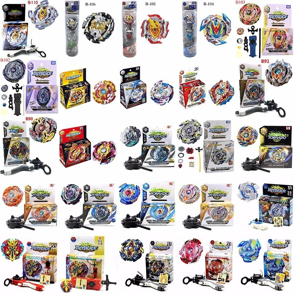100 PCS HOT Beyblade Burst 4D Set Con Launcher e Arena Metal Fight Battaglia Fusion Classic Giocattoli Con La Scatola Originale per il Regalo Del Capretto
