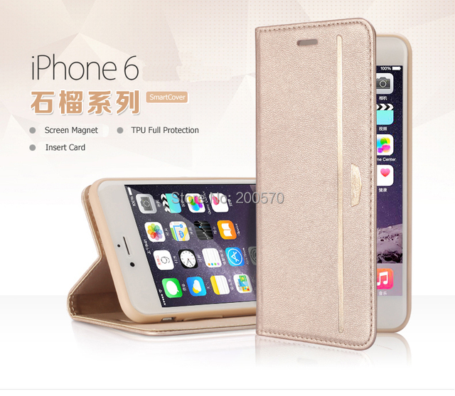 newest 98820 dee5d US $11.99 |Original XUNDO Youth Style Magnetic Flip Leather Case Wallet  Holder With Stand Function For iPhone 6 4.7