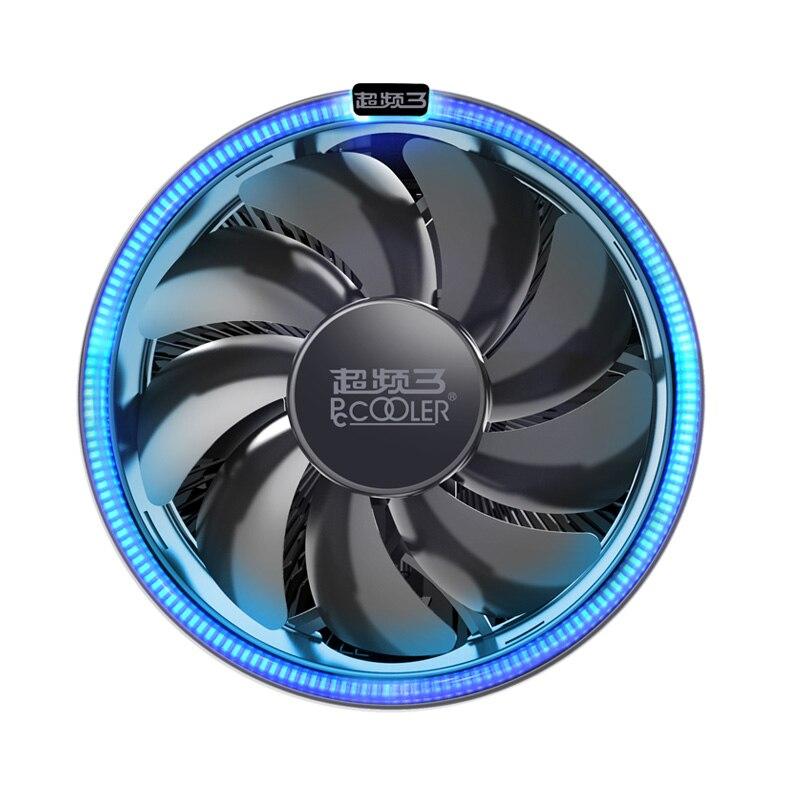 PcCooler 12 cm 4pin LED Blau blende cpu lüfter PWM silent cpu kühler für AMD AM3 AM4 FM1 FM2 intel 775 115X heizkörper ganz