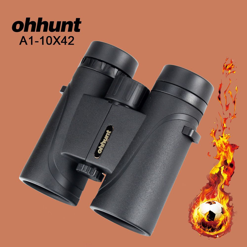 ohhunt A1 10X42 Hunting Binoculars Waterproof Fogproof Telescope Powerful Bright Optics Binocular for Camping Hiking Football сумка tommy hilfiger aw0aw04530 002 black