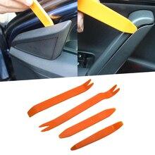 4 pçs porta do carro clipe painel ferramentas de remoção de áudio vídeo painel desmontar kits instalador pry ferramenta plástico painel guarnição ferramentas reparo