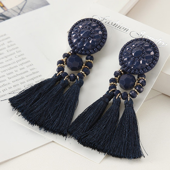 Long Drop Dangle Fringe Earrings Vintage Women Tassel Earrings 9 Colors Boho Statement Brand Jewelry Female.jpg 350x350 - Earrings For Women