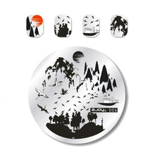 1 PCS Round Nail Art Stamp Stamping Plates Template Cute Animal/Flower/Rose Lace Image 5.5cm Manicure Plate Tools ZJOYs-10