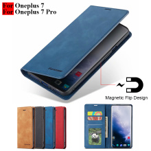 Oneplus 7 Pro Case Flip Magnetic Phone Case On One Plus 7 Pro Case Leather Vintage Wallet Case For Oneplus 7 Pro Cover Card Slot cheap HOTSUNTOWN Flip Case For Oneplus 7 Oneplus 7 Pro Case Plain With Card Pocket Anti-knock Kickstand Dirt-resistant A++++ High Quality
